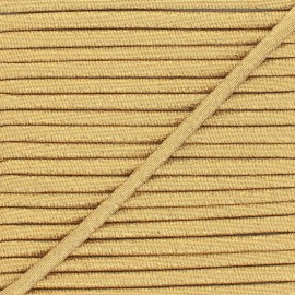 Frou-Frou Lurex Stitched Cord - Bronze x 1m