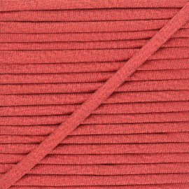 Frou-Frou Lurex Stitched Cord - Red x 1m