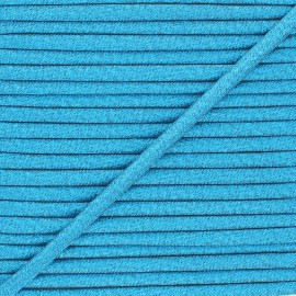 Frou-Frou Lurex Stitched Cord - Blue x 1m