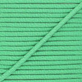 Frou-Frou Lurex Stitched Cord - Green x 1m