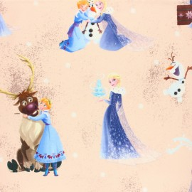 Tissu coton cretonne La reine des neiges - Sven & cie x 10cm