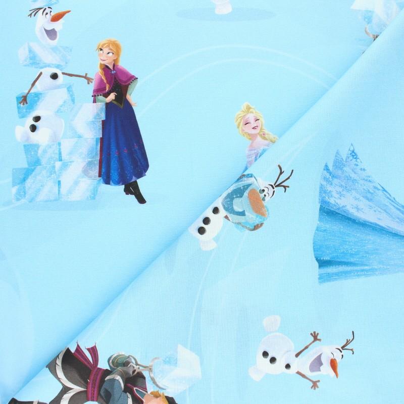 Tissu La Reine Des Neiges Coton Cretonne à Motif Olaf Cie Mpm