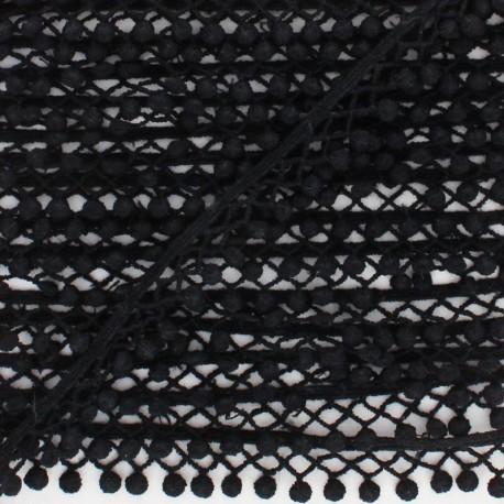 Galon Mini Pompon ajouré - Noir x 1m