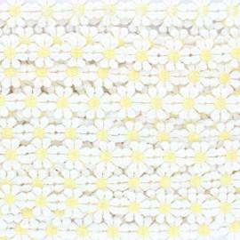 Daisy ribbon - white x 50cm
