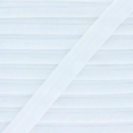 17 mm Lingerie Elastic Bias - White Adrienne x 1m