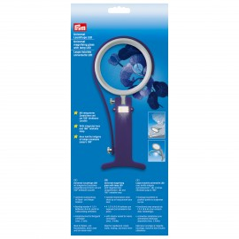 Universal magnifying glass with lamp LED