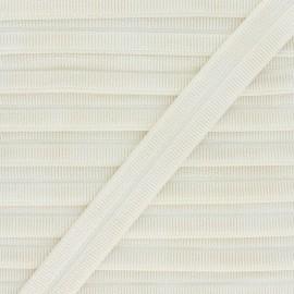 Biais Elastique Lingerie Adrienne 17 mm - Ecru x 1m