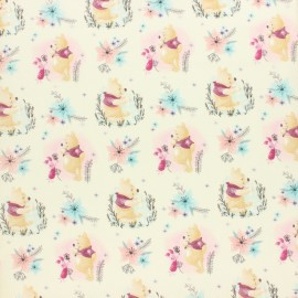 Disney Cretonne cotton fabric - raw Winnie's Garden x 10 cm