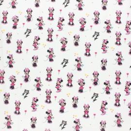 Tissu coton cretonne Mini Minnie - rose x 10cm