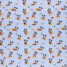 Disney Cretonne cotton fabric - Grey Mickey x 10 cm