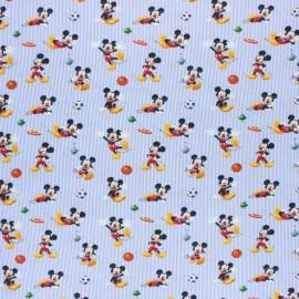 Tissu coton cretonne Mickey - gris x 10cm