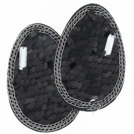 Epaulettes paillettes noir (x2)