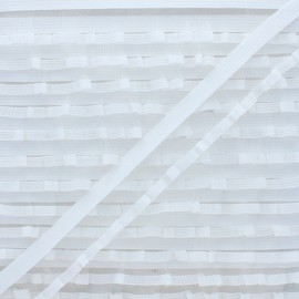 Flounce Lingerie Elastic Ribbon - White x 1m