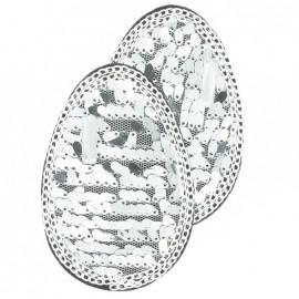 Epaulettes paillettes argenté (x2)