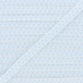 Lurex Lingerie Elastic Ribbon - White x 1m