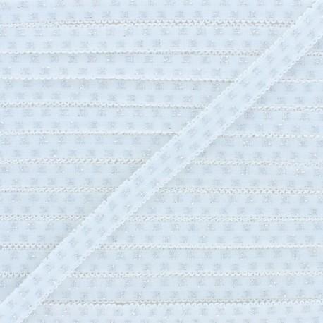 Elastique Lingerie Lurex - Blanc x 1m