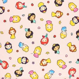 Tissu coton cretonne Princesse Pop Disney - Rose x 10cm