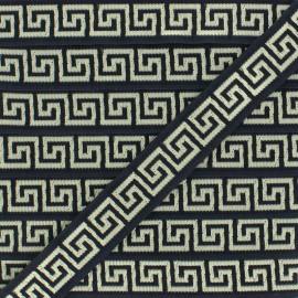 Galon Jacquard Roma - noir x 1m