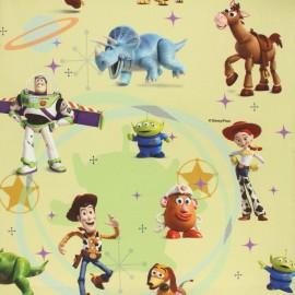 Tissu coton cretonne Disney Toy Story - vert x 10cm