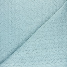 Twist jersey fabric - Pastel blue x 10cm