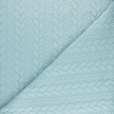 Twist jersey fabric - Pastel blue x 10cm
