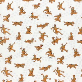 Tissu coton cretonne Scooby-doo - écru x 10cm