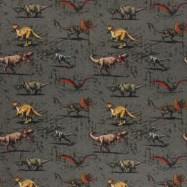 Tissu coton cretonne Mini Jurassic World - gris x 10cm