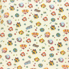 Cretonne cotton fabric - Raw Tom & Jerry x 10 cm