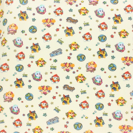 Cretonne cotton fabric - Raw Tom & Jerry x 10 cm