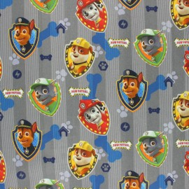 Paw Patrol - Cretonne cotton fabric - Grey Team x 10 cm