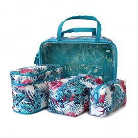Small suitcase + 3 cases - Tropical