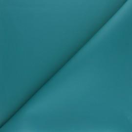 Tissu Simili cuir souple Louxor mat - vert paon x 10cm