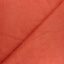 Thick ribbed velvet fabric ? orange x 10cm