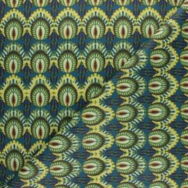 Tissu coton cretonne enduit Bénaria - vert x 10cm