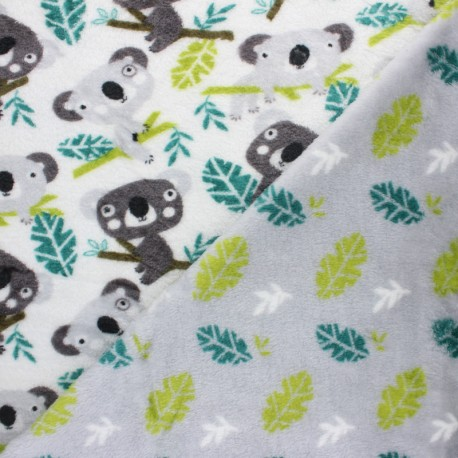 Double sided baby's security blanket - green Little Panda x 10cm