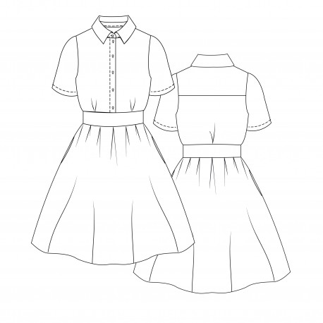 Dress Sewing Pattern - Lot of Things Bicyclette
