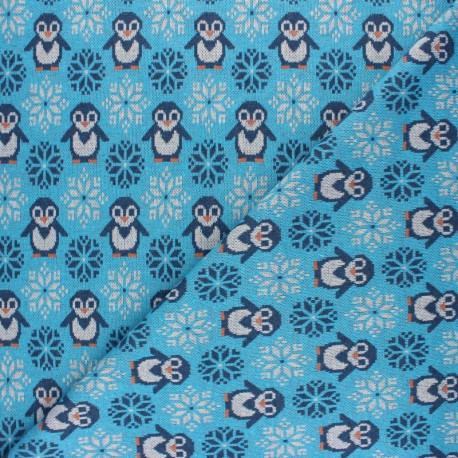Recycled Knitted jersey fabric - Grey Penguin x 10cm