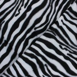 Short-haired Fur fabric - Zebra Animéo x 10cm