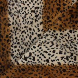 Short-haired Fur fabric - Hyena Animéo x 10cm