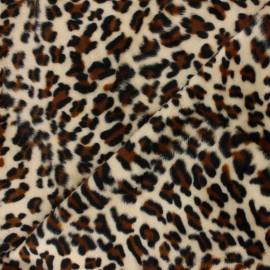 Short-haired Fur fabric - Leopard Animéo x 10cm