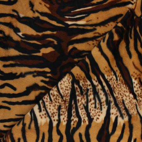 Short-haired Fur fabric - Tiger Animéo x 10cm