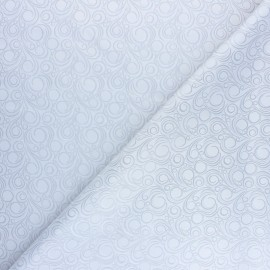 Jacquard Lining Fabric - light grey Circle x 10cm