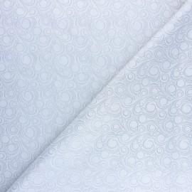 Tissu Doublure Jacquard Circle - gris clair x 10cm