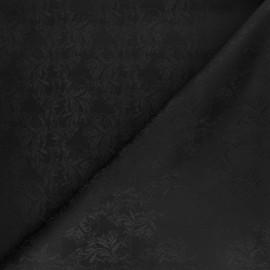 Tissu Doublure Jacquard Balori - noir x 10cm