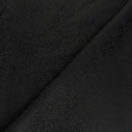 Tissu Doublure Jacquard Chingam - noir x 10cm