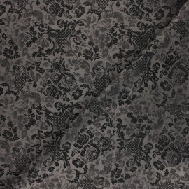 Jacquard Lining Fabric - grey Chingam x 10cm