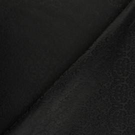 Tissu Doublure Jacquard Dolka - noir x 10cm