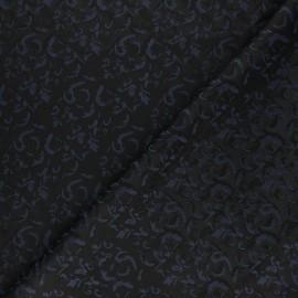 Jacquard Lining Fabric - navy blue Handwara x 10cm