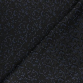 Tissu Doublure Jacquard Handwara - bleu marine x 10cm