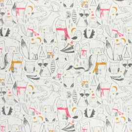 Cotton Dashwood Studio fabric Under the Stars - Indian Fox x 10cm